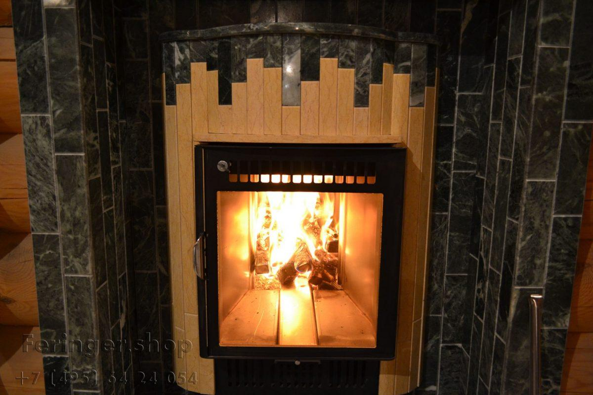 печь Ферингер «Ламель» Оптима 'До 23 м³' - Змеевик + Сильвия Оро