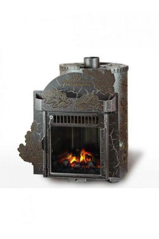 Дровяная печь для бани Ферингер Малютка До 16 м3 - Экран (Дуб) - Антик