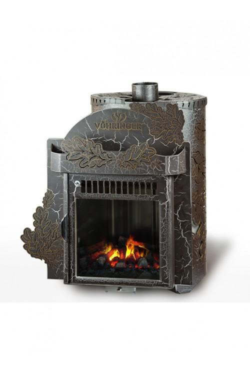 Дровяная печь для бани Ферингер Классика До 23 м3 - Экран (Дуб) - Антик