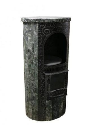 Печь отопительно-варочная «Лада» в облицовке «Ламель» - Змеевик