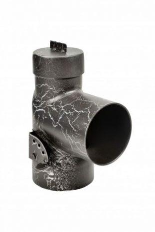 Дымоход отвод 90° с шибером и прочисткой