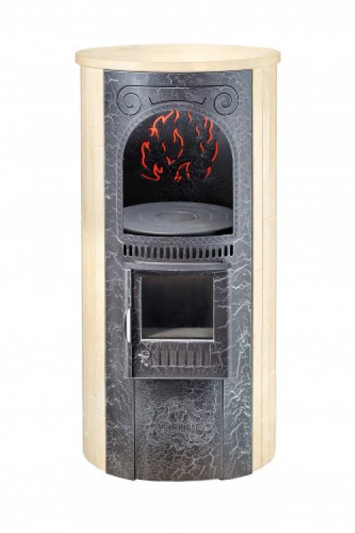 Печь отопительно-варочная «Лада» в облицовке «Ламель» - Сильвия Оро
