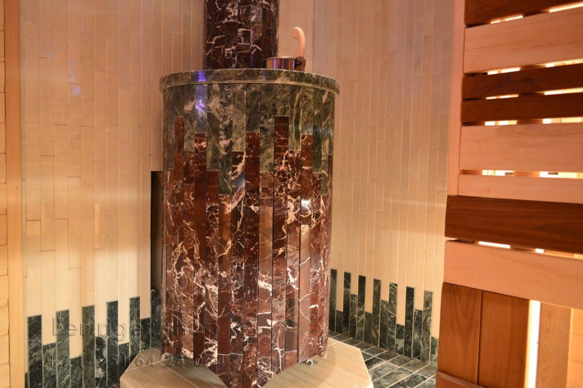 печь Ферингер «Ламель» Оптима 'До 23 м³' - Змеевик + Россо Леванте