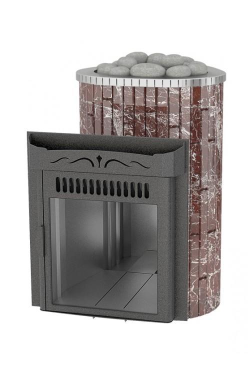 Макси 'До 30 м³' - Облицовка 'Россо Леванте' - Обрамление 'Металл'