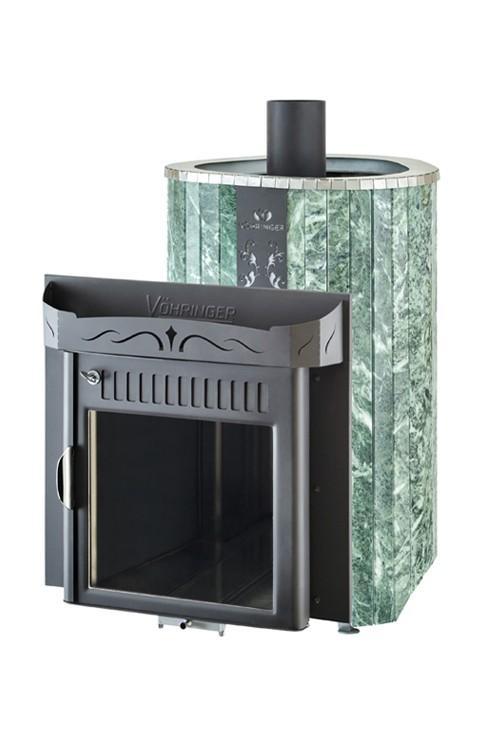 Банная печь Ферингер Оптима 'До 23 м³' - Облицовка 'Змеевик' - Обрамление 'Металл'