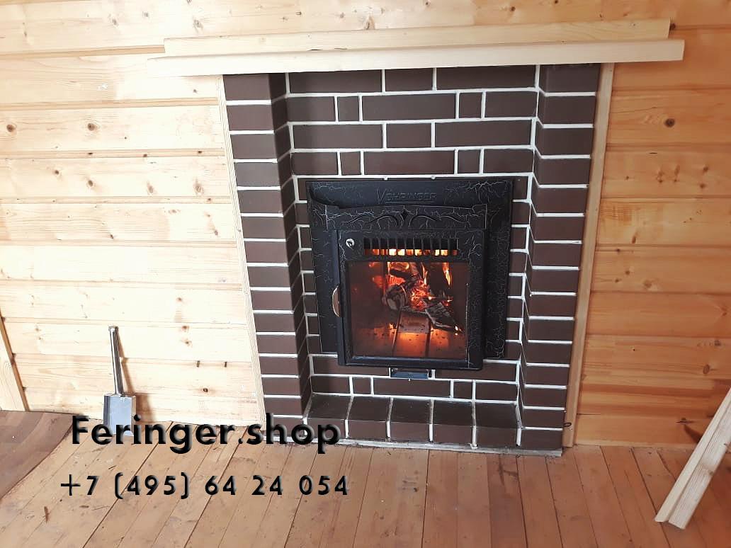 Дровяная печь для бани Ферингер Классика До 23 м3 - Экран (Антик)