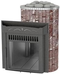 Мини 'До 16 м³' — Облицовка 'Россо Леванте' — Обрамление 'Металл'